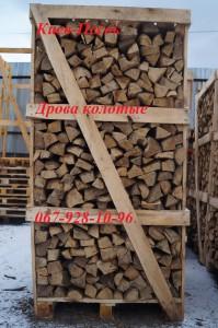 дрова в ящиках колотые, купить дрова